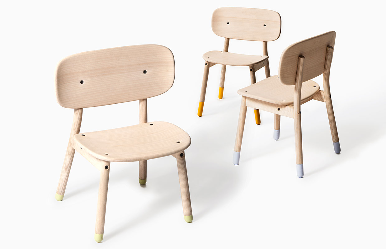 Small Kids Chair Friends A Growing Chair For Children By Claus Korup