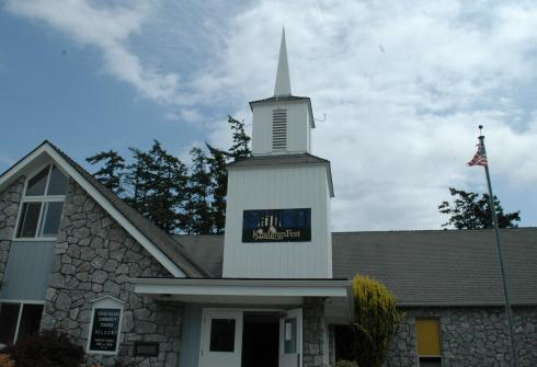 Orcas Island Community Church: and its fun-filled steeple.
