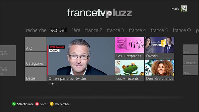 France 3 Tv Pluzz Replay France Télévisions Lance Francetv Pluzz Sur Xbox 360