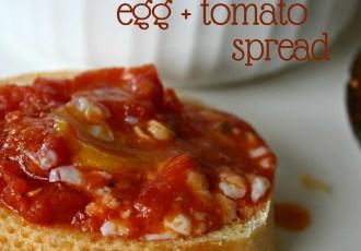 baked pancetta, egg + tomato spread | aflavorjournal.com