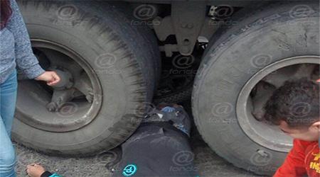 El conductor no logró frenar a tiempo.