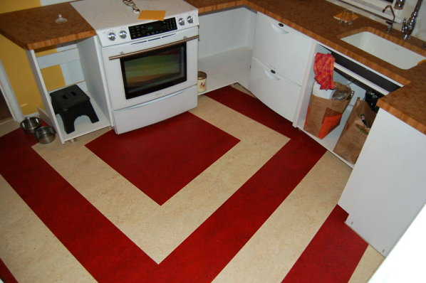 Tile A Kitchen Floor Under Cabinets Marmoleum Click Tiles | A Foodie's Fall From Grace