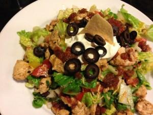 Festive Chicken Taco Salad
