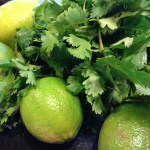 Fresh limes and cilantro (Photo Credit: Adroit Ideals)