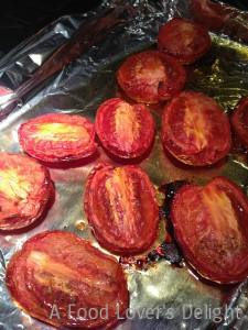Roasted Tomatoes are a simple way to use garden tomatoes that are past their prime (Photo Credit: Adroit Ideals)