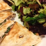 Spinach and Mushroom Quesadilla with Monterey Jack Cheese (Photo Credit: Adroit Ideals)