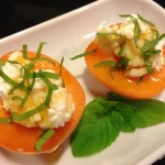 Apricots with Fresh Ricotta, Honey and Mint (Photo Credit: Adroit Ideals)