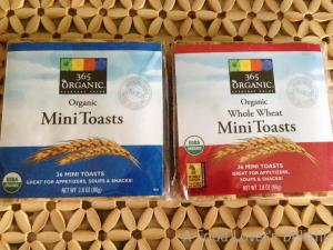 Whole Foods Market carries nice little mini-toasts for your appetizer recipes (Photo Credit: Adroit Ideals)