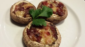 Serve my Stuffed Mushroom Caps with Brie, Ham and Dried Cranberries at your next party!  (Photo Credit: Adroit Ideals)