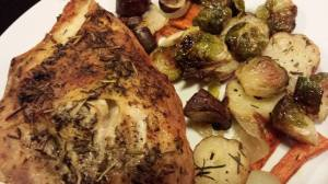 Roasted Chicken Breasts with Herbs de Provence and Roasted Vegetables (Photo Credit: Adroit Ideals)