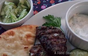 Simple Cucumber Salad pairs well with my Grilled Lamb Meatballs (Photo Credit: Adroit Ideals)