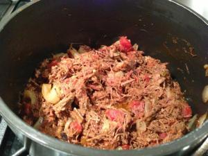 Shredded Buffalo Taco Meat (Photo Credit: Adroit Ideals)
