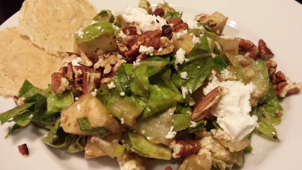 Granny Smith Apple Chopped Salad with Toasted Pecans and Goat Cheese (Photo Credit: Adroit Ideals)