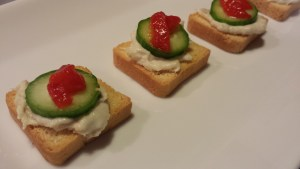 Finished Smoked Whitefish Mini Toasts ready for serving (Photo Credit: Adroit Ideals)