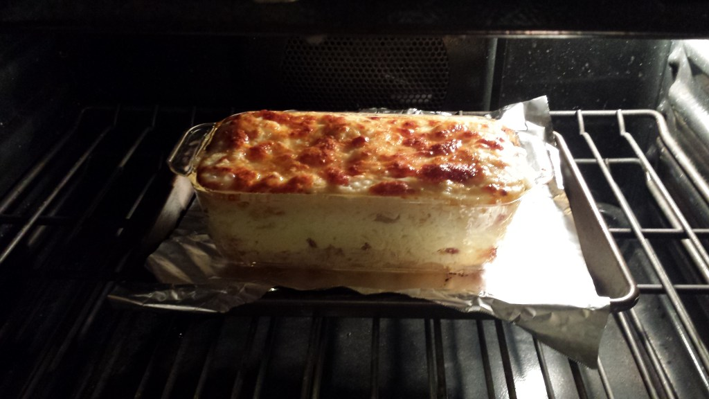 The white lasagna is done!  (Photo Credit: Adroit Ideals)