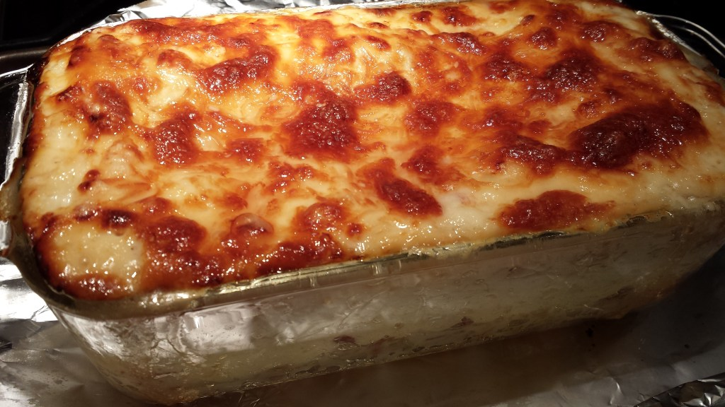 White Lasagna fresh from the oven  (Photo Credit: Adroit Ideals)