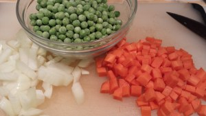 Onions, peas and carrots (Photo Credit: Adroit Ideals)
