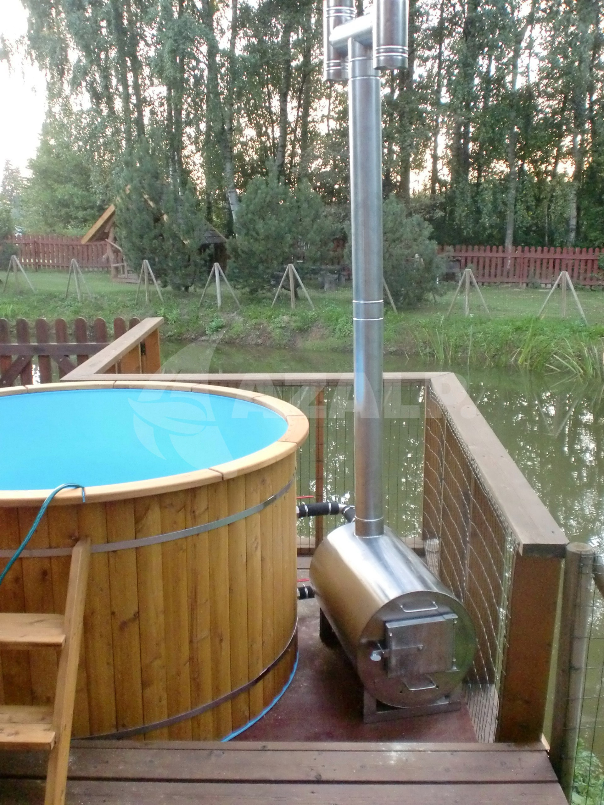 Hottub In De Tuin Interflex Hottub Vuren Met Polypropyleen Diameter 190cm