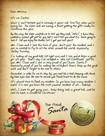 Amaze Your Child With A Personalized Santa Letter Package! Sent to
