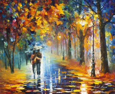 AUTUMN HUGS - Palette Knife Oil Painting On Canvas By Leonid Afremov - 40