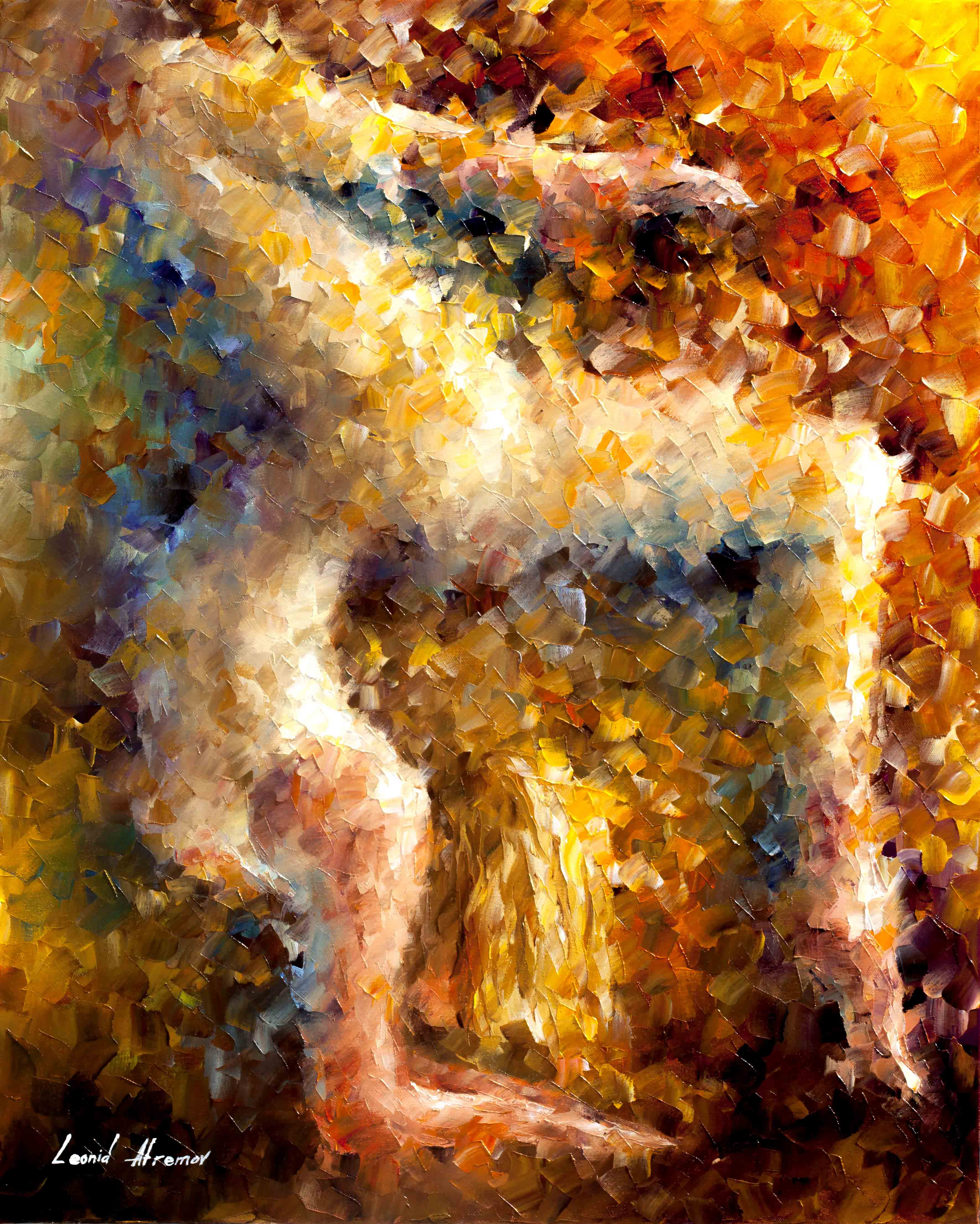 How To Painting Art The Feeling Of Movement Original Oil Painting On Canvas