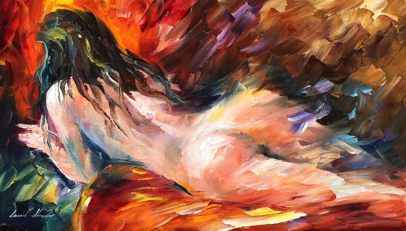 Cuadros Mujeres Desnudas Dreams Palette Knife Oil Painting On Canvas By Leonid