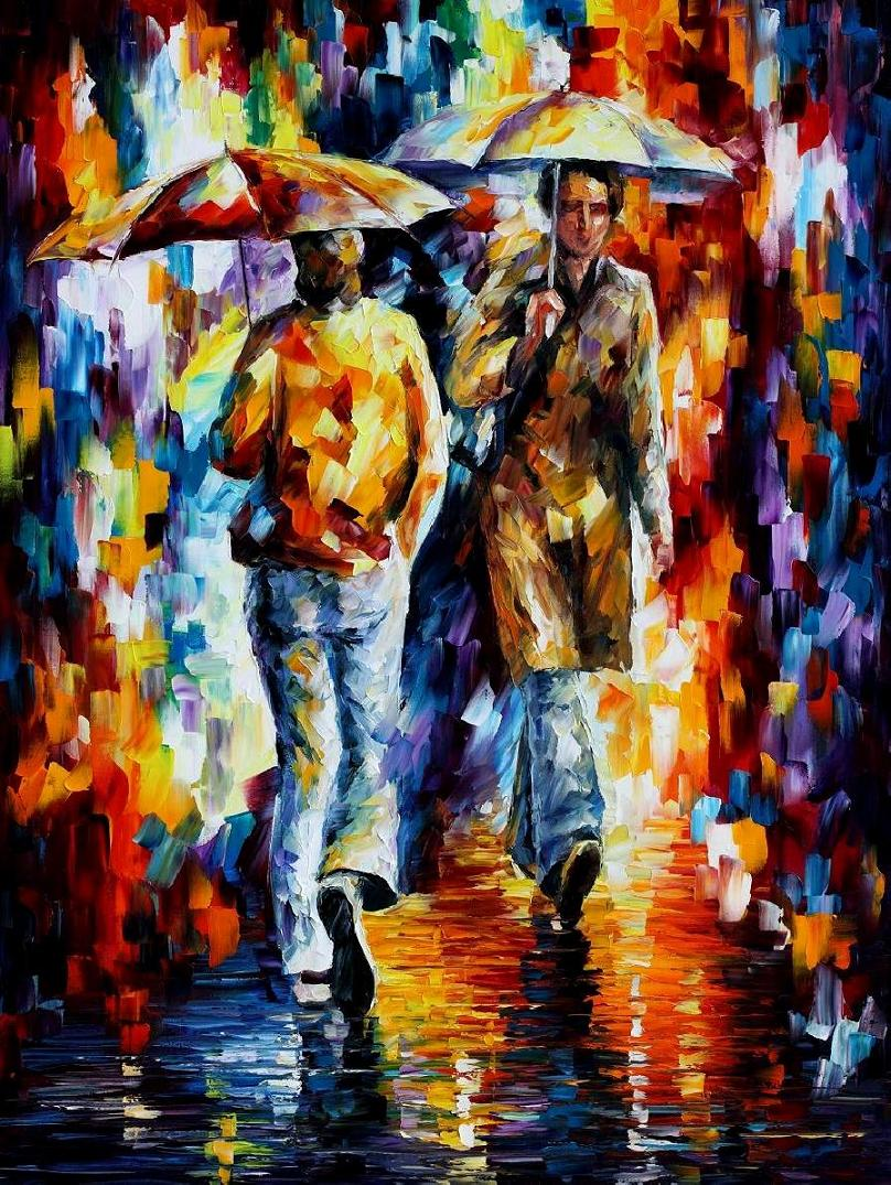 Abstract Fall Colors Wallpaper Leonid Afremov Oil On Canvas Palette Knife Buy Original