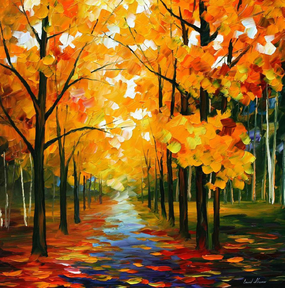 Fall Wallpaper With Dogs Leonid Afremov Oil On Canvas Palette Knife Buy Original