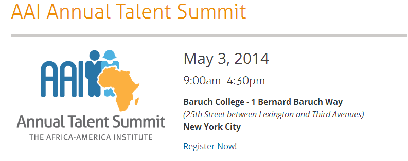 (New York): Talent Summit by the Africa-America Institute