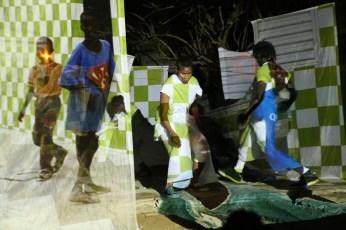 performance Matieres Urbaines al villaggio di Ouakham