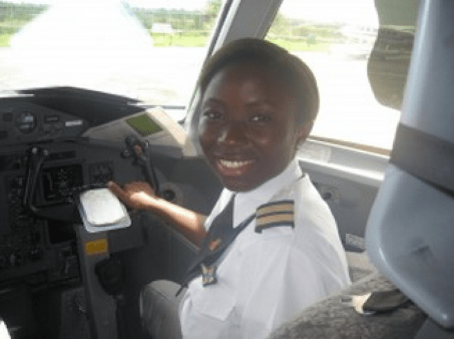 Adebule imoleye the youngest licenced commericial airline pilot at 23,