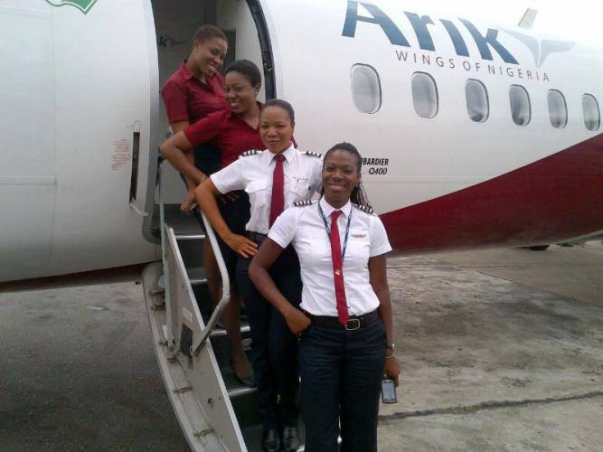 Arik Air all female crew Rwanda