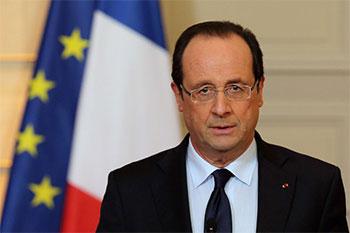 François Hollande s'est entretenu