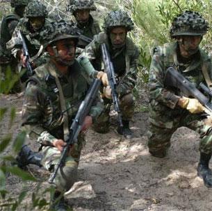 Les unités de l'Armée et de la Garde nationale effectuent