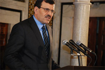 Le chef du gouvernement démissionnaire Ali Laarayedh