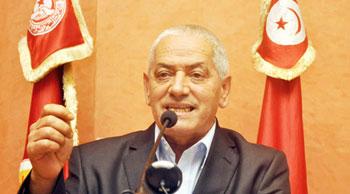 Le secrétaire général de l'Union générale tunisienne du travail (UGTT)