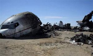 L'avion militaire médicalisé libyen qui s'est écrasé