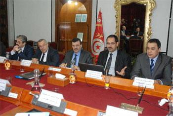 Le premier conseil ministériel du nouveau gouvernement réuni