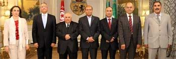 Les membres de l'Instance provisoire de contrôle de la constitutionalité