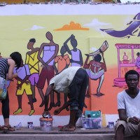 """It's not a wall, it's a mural! Youth and artists """"Imagine Accra"""" in Kanda community"""