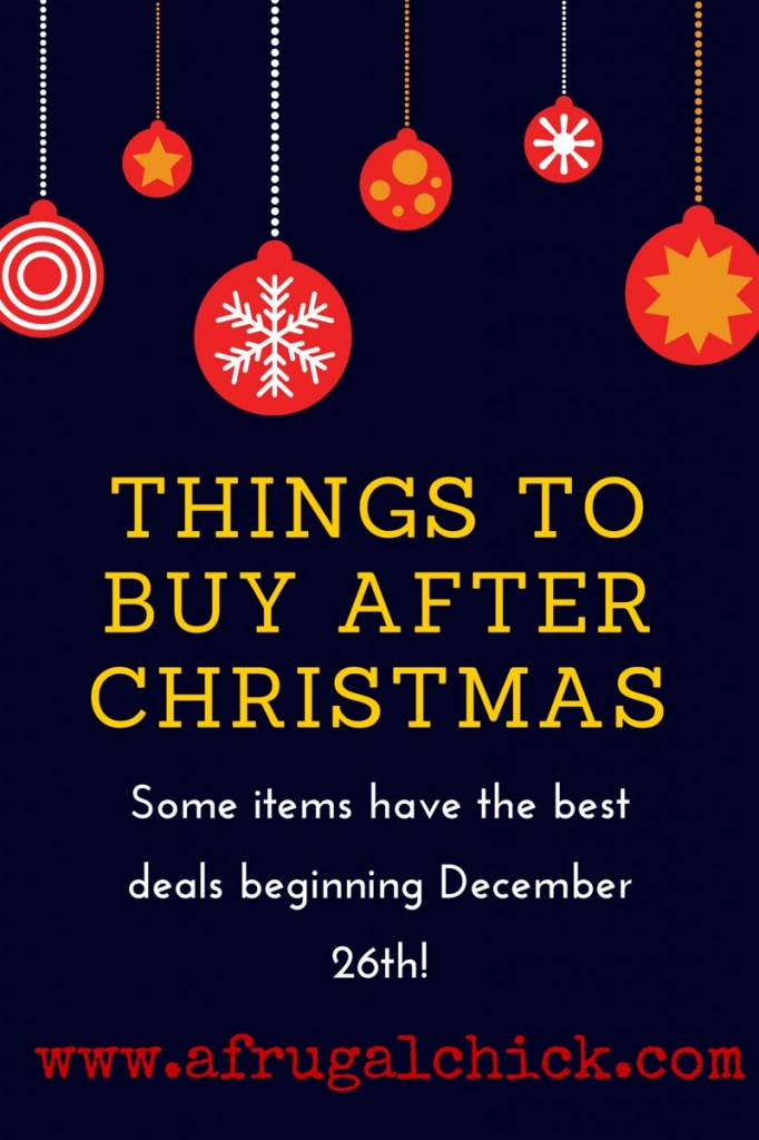 Black Friday Shopping Things To Buy Beginning December 26th
