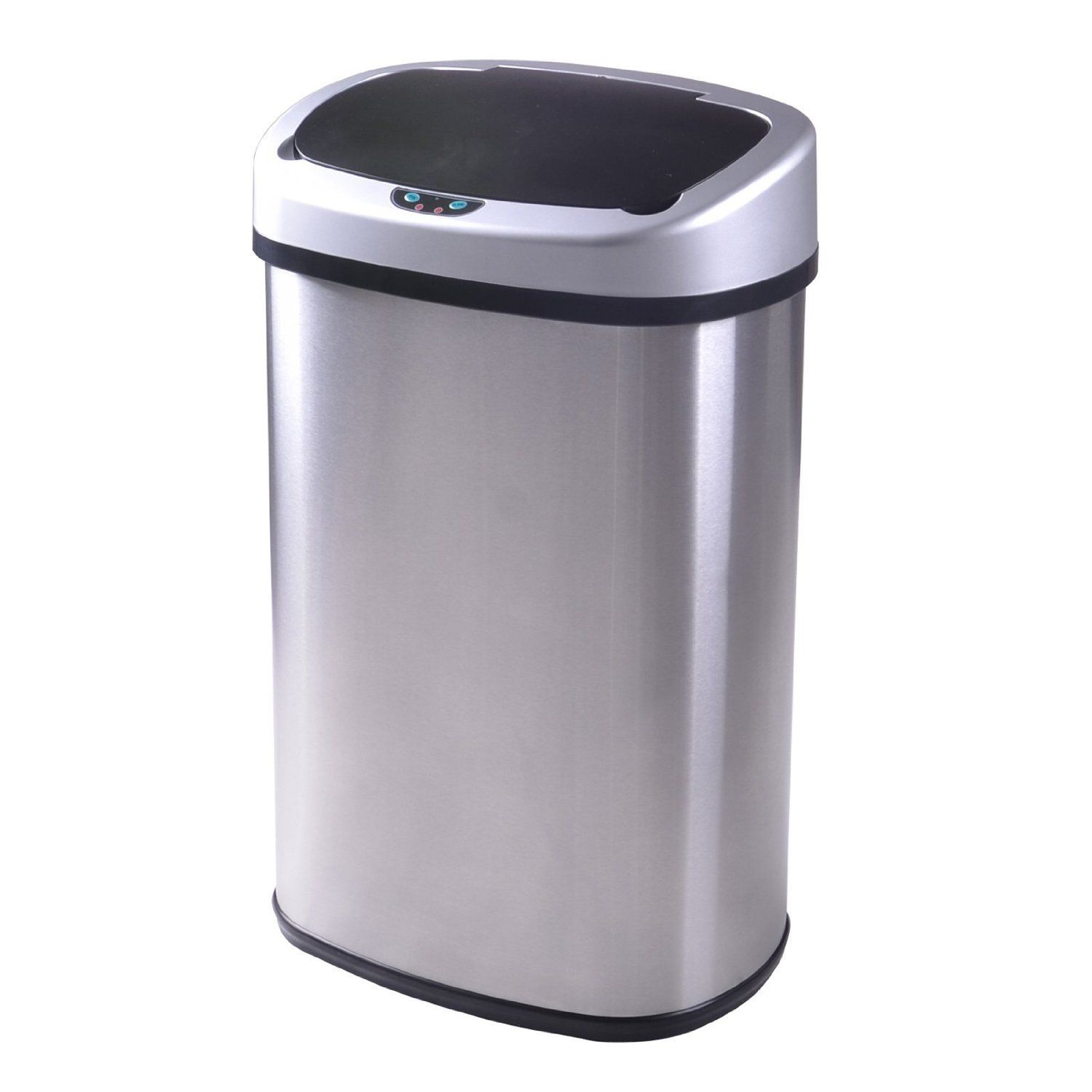 Pretty Kitchen Trash Cans 13 Gallon Touch Free Sensor Automatic Stainless Steel
