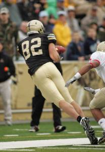 Ali Villanueva had seven catches for 119 yards against VMI earlier this year.