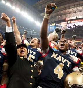 APTOPIX Texas Bowl Missouri Navy Football