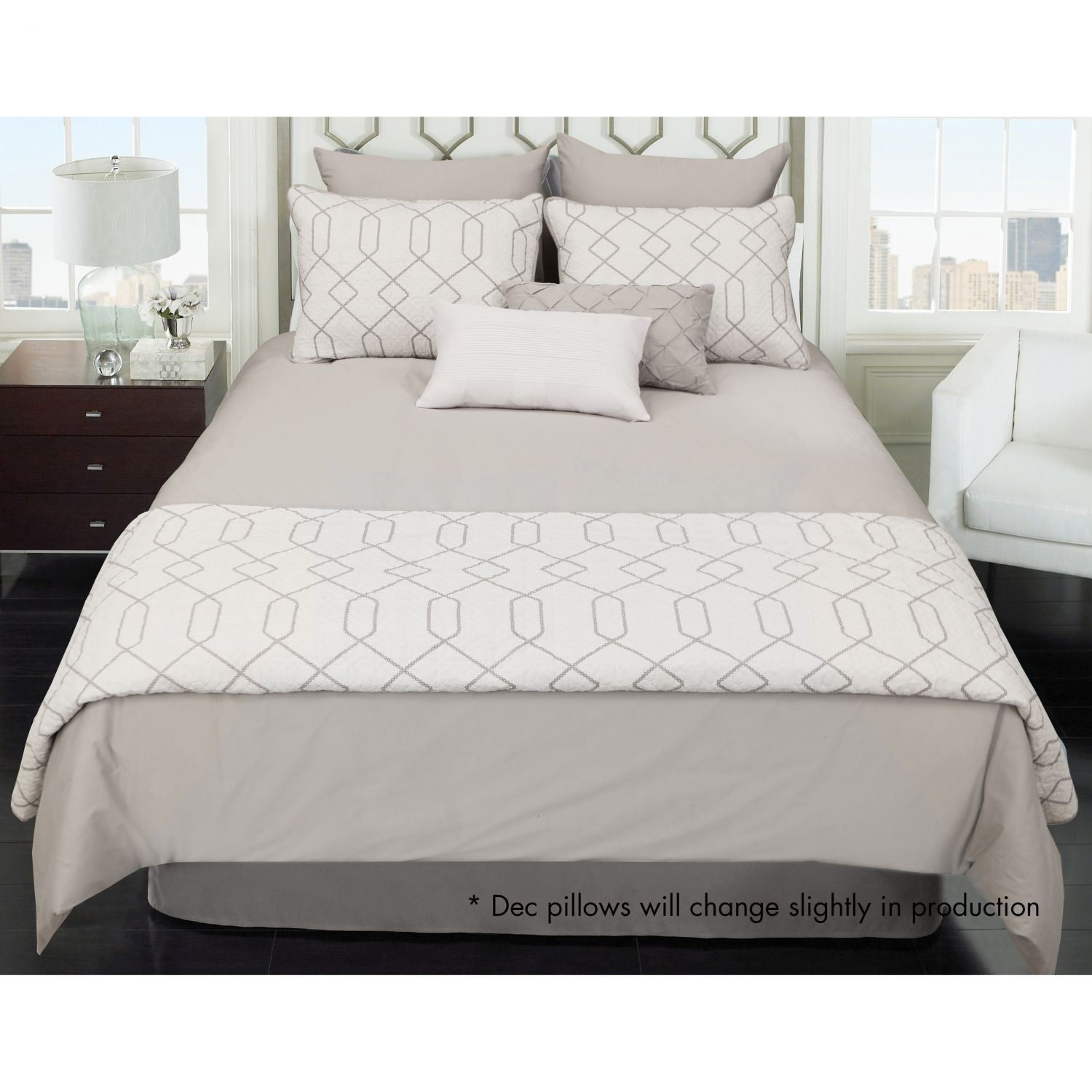 Bed Coverlet Kensil Queen 8 Piece Comforter Coverlet