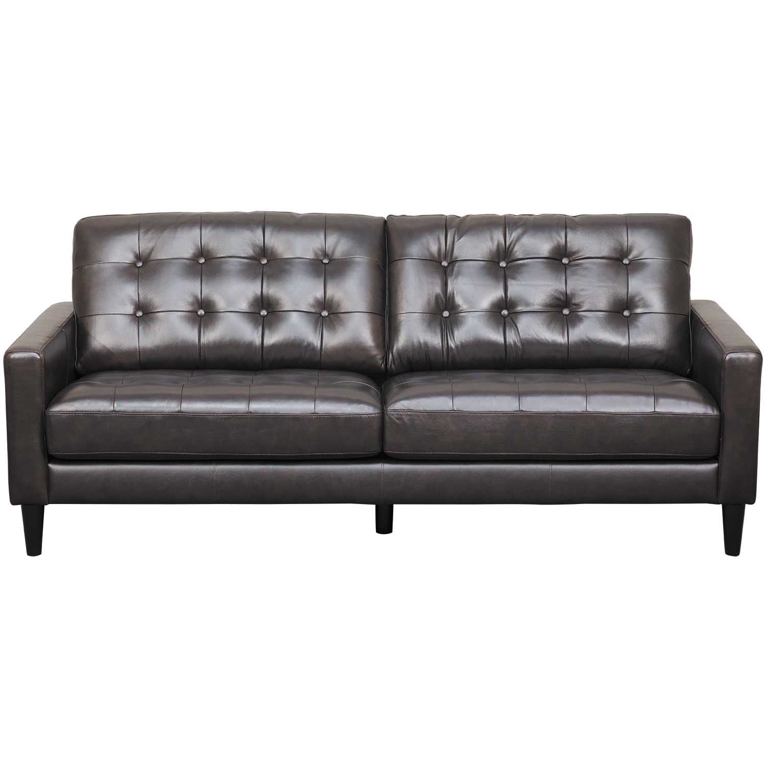 Dark Brown Couch Ashton Dark Brown Leather Sofa As 5957br Dbrn 3
