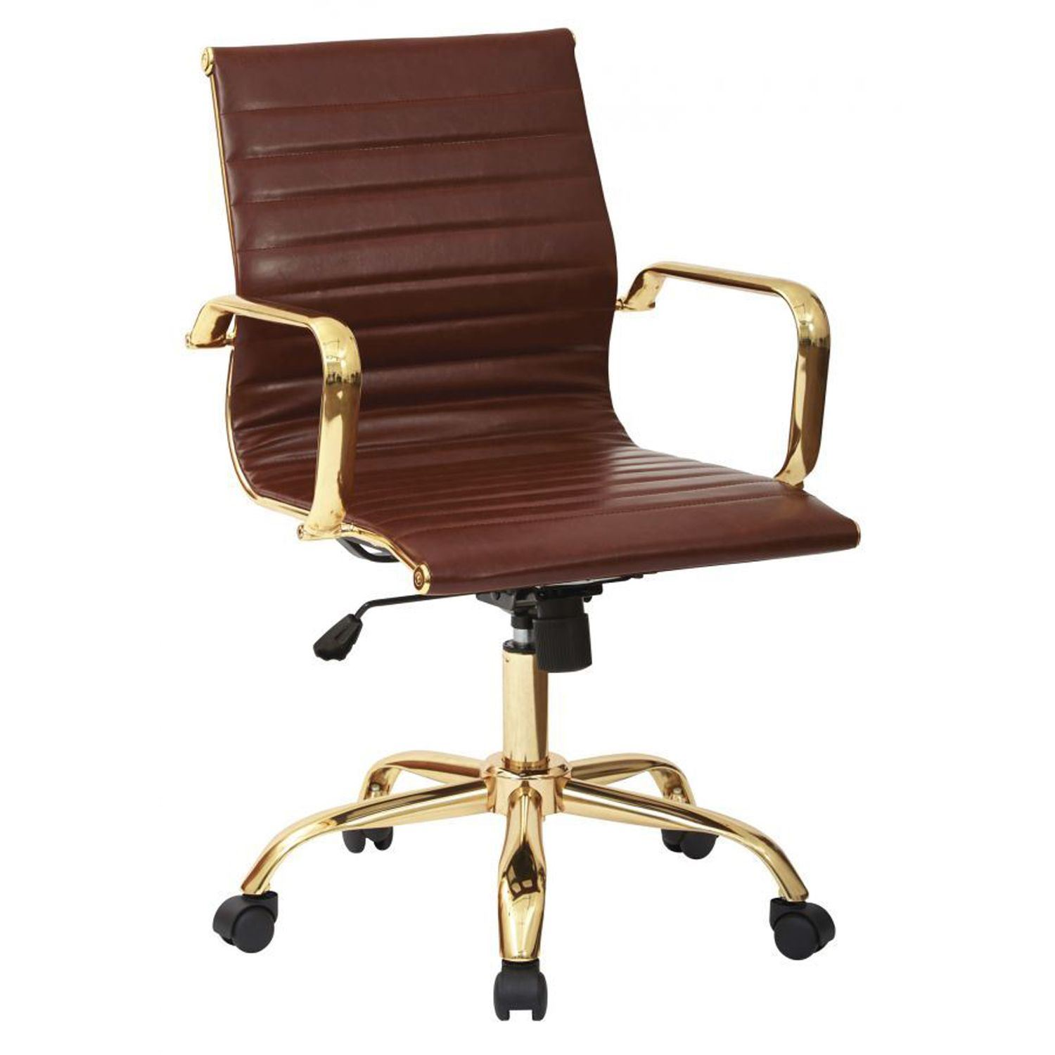 Saddle Office Chair Thick Padded Saddle Faux Leather Office Chair Fl3836g U41 Office
