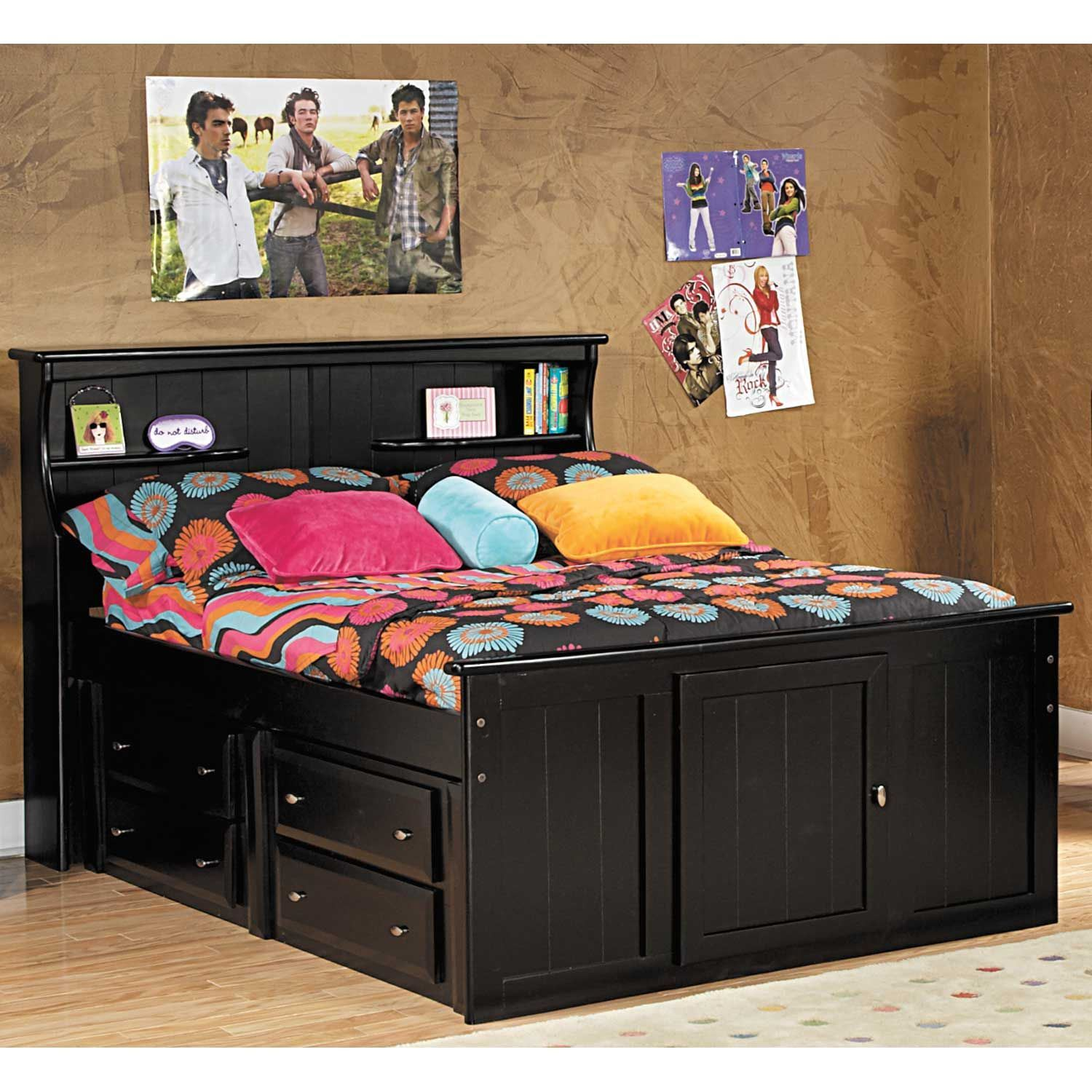 Under Bed Storage Frame Laguna Twin Bookcase Bed With Underbed Storage
