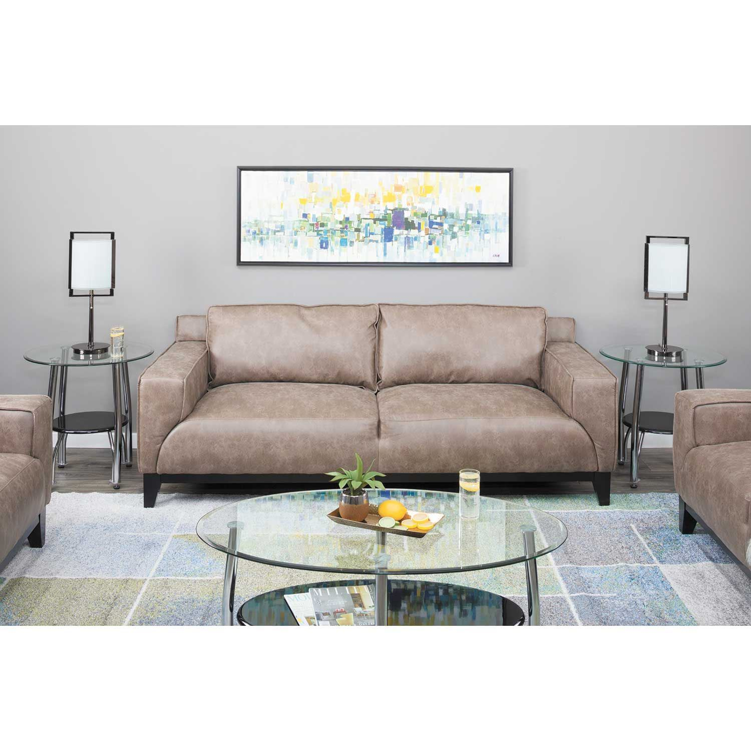 Sofa Entertainment Group Llc Hampton Sofa Uhp1201300 Mackenzie Mushroom Elements