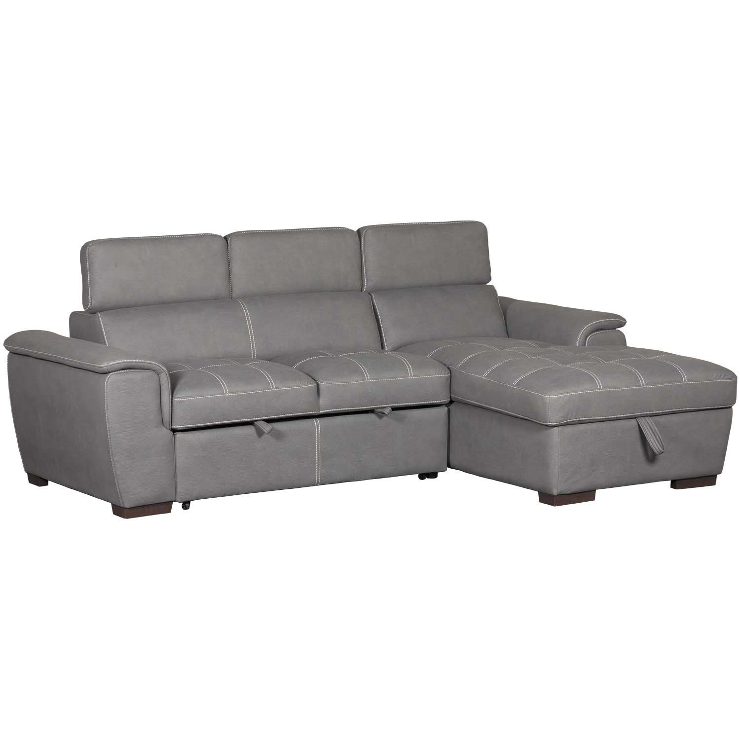 Sectional Pull Out Couch Levi 2 Piece Sectional With Pull Out Bed